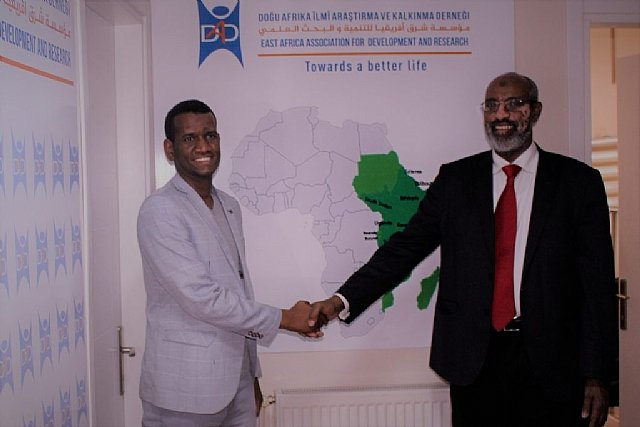 Mr. Ahmed Sheikh a researcher and member of the institute of Somali studies has visited DAD