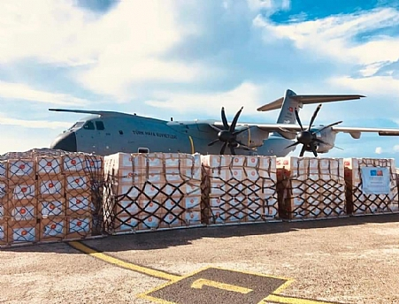 Somalia receives medical aid from Turkey to tackle the Corona virus